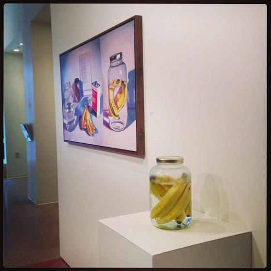 """Banana Preservation"" at the beginning of the exhibition"